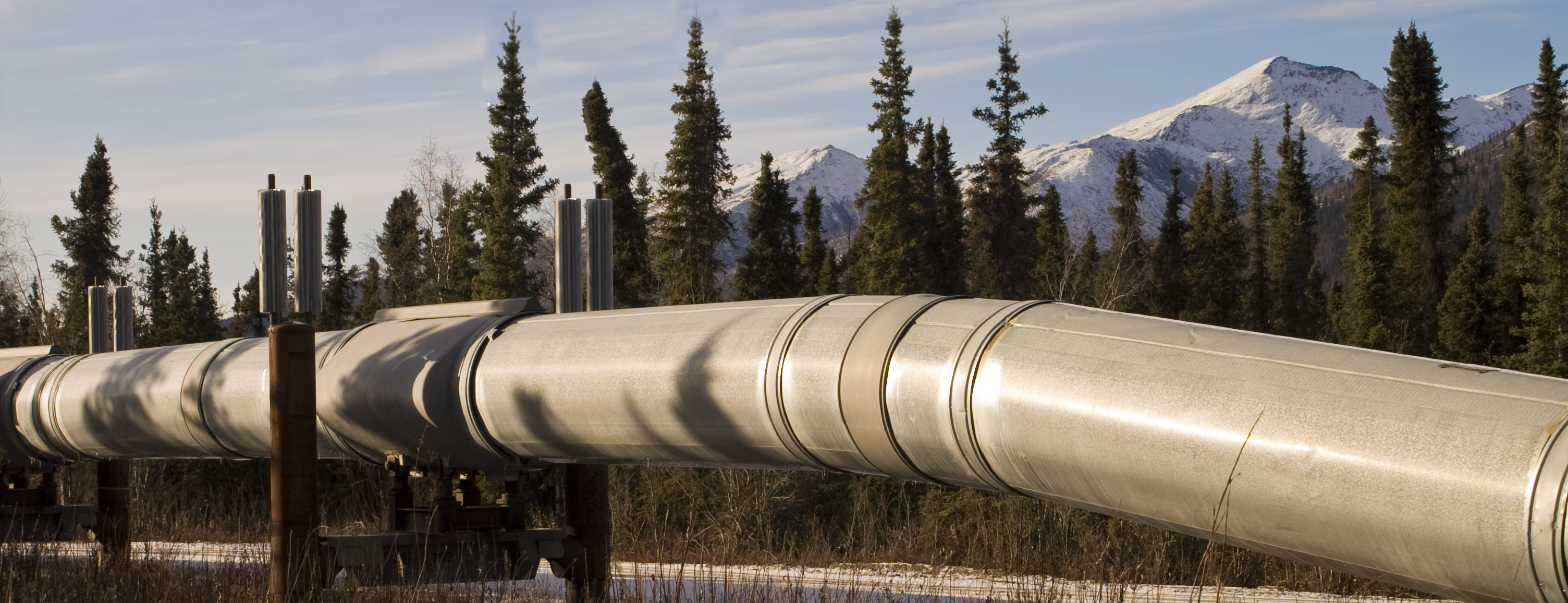 Indelac actuators on oil and gas pipeline