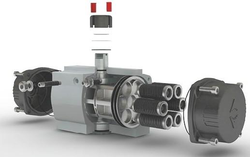 spring return pneumatic actuator