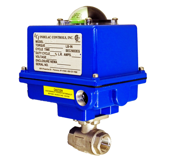 Indelac Electric Actuator R Series - SVF E Series on a valve