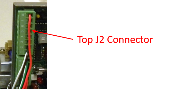 top J2 connector